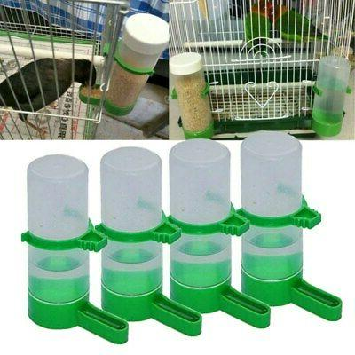 4PCS Plastic Pet Bird Drinker Feeder Water Bottle Cup For Ca