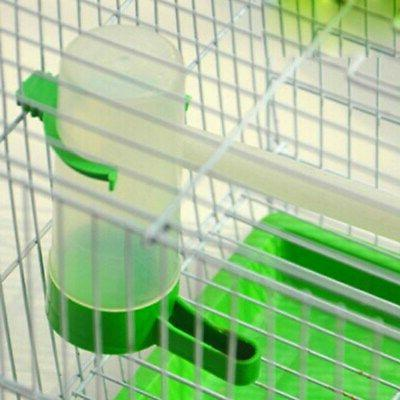 4PCS  Plastic Pet Bird Drinker Feeder Water Bottle Cup For C
