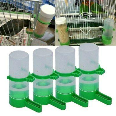 Pet Bird Water Drinker Bottle Feeder Clip 4pcs for Lovebird