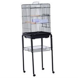 Pawhut 51 Bird Cage - Black
