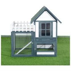 Pawhut 52 Wooden Chicken Coop w/Nesting Box and Outdoor Run