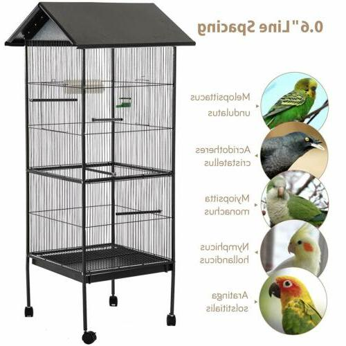 62'' Large Bird Cage Parrot Cockatiel Conure Chinchilla Hous