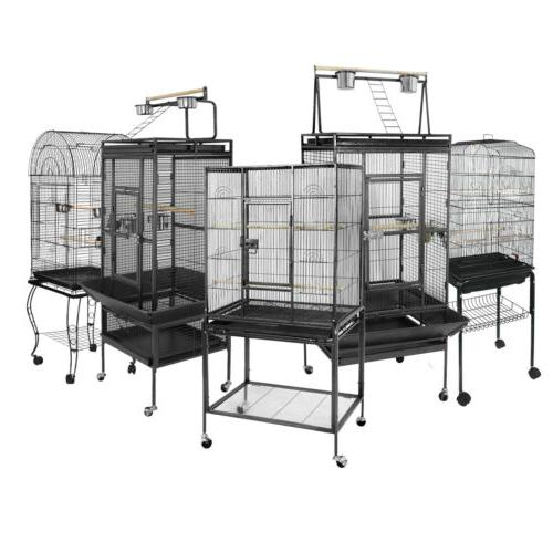 "53"" 61"" 68"" Large Bird Iron Cage Play Top Parrot Macaw Cage"