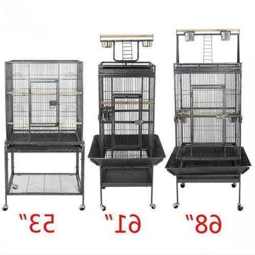 "53"" 59"" 61"" 63"" Large Iron Cage Parrot Pet"