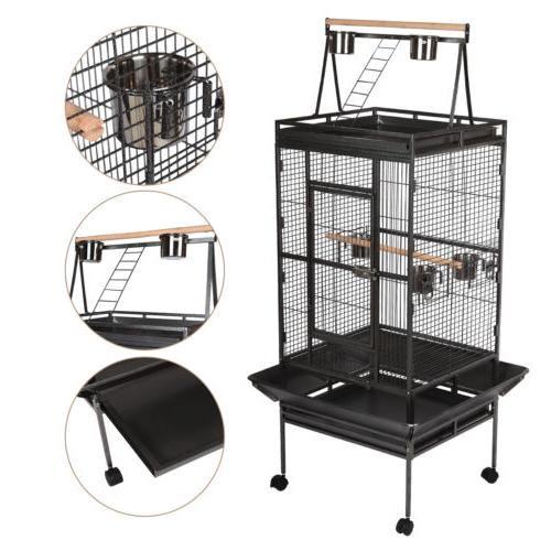 """53""""68""""69""""Large Parrot Pet Cage Cockatiel House with"""