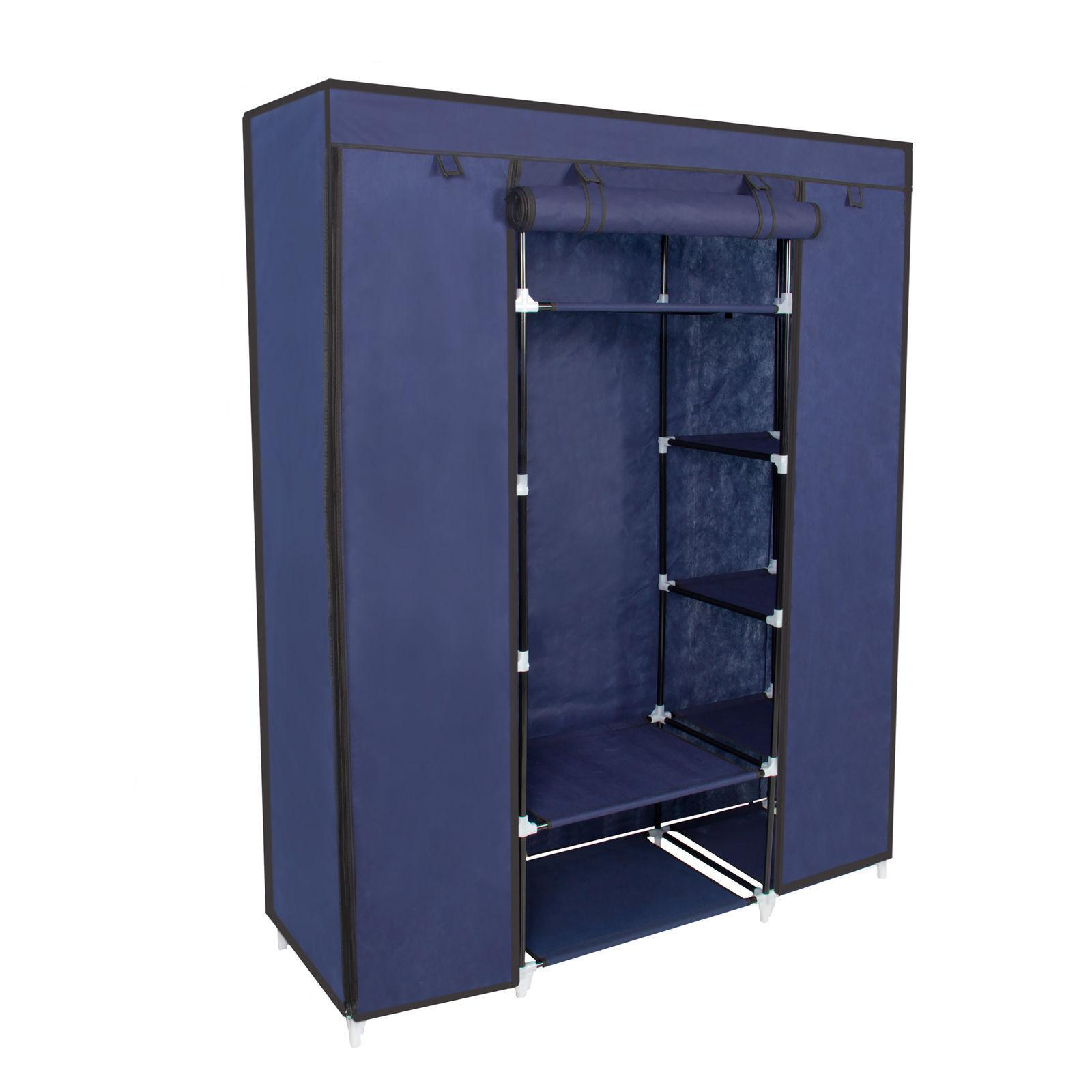 53 Portable Closet Storage Organizer Wardrobe Clothes Rack W