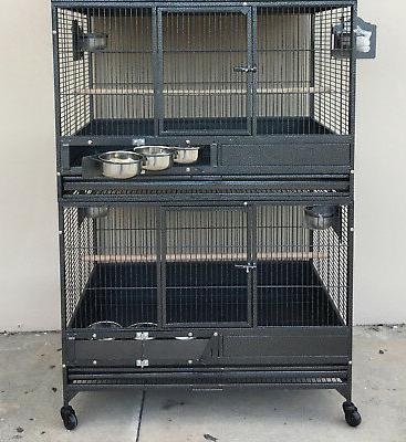 """54"""" LARGE Double Stackers Breeding Bird Macaw Parrot African"""