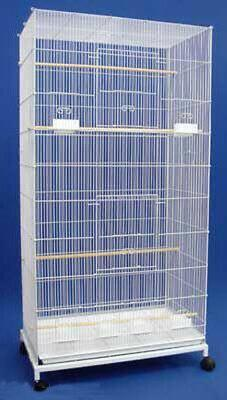 "55"" Large Flight Bird Cage With Stand Canaries Aviaries Para"