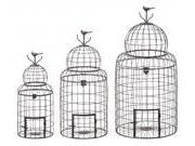 BENZARA 55123 Victorian Style Bird Cage With `Perching Bird