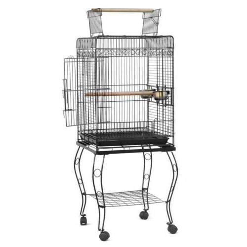 "57"" Cockatiel Bird Cage with Wood CFP"