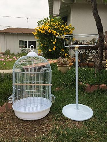 "Mcage Cage with Stand Finch Canary Cockatiel Parakeet Top, H, Cage and 16"" D H"
