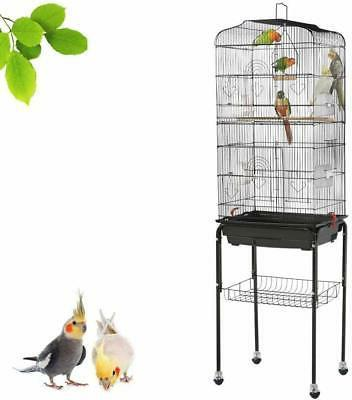 Yaheetech Rolling Cage Small Parrots Cockatiels Sun