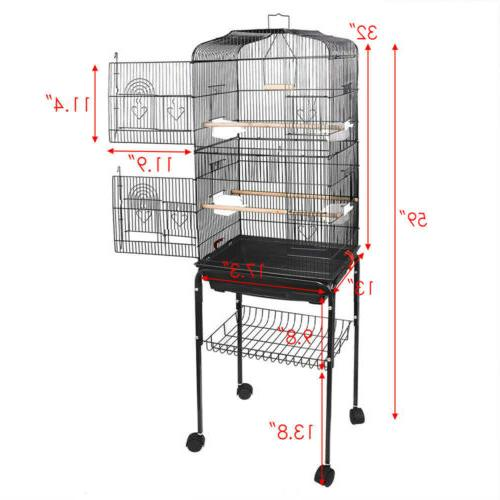 Durable 59''H Large Cockatiel Parakeet Finch Canary Cage Bir