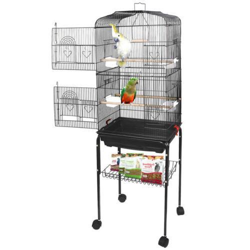 "59"" Large Bird Parrot Pet Cage Chinchilla Cockatiel Conure H"