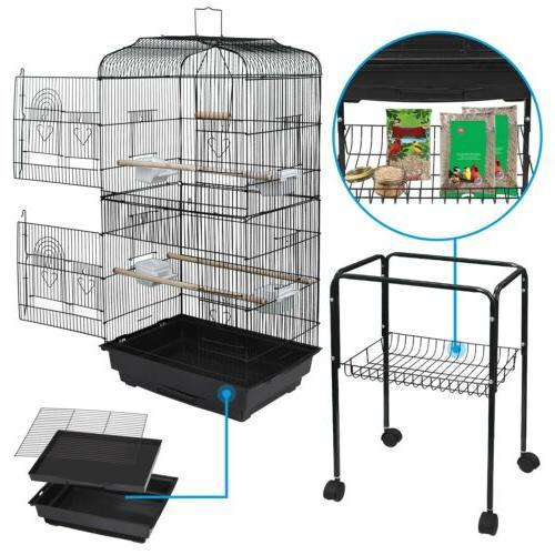 59 3 rolling bird cage parakeet finch