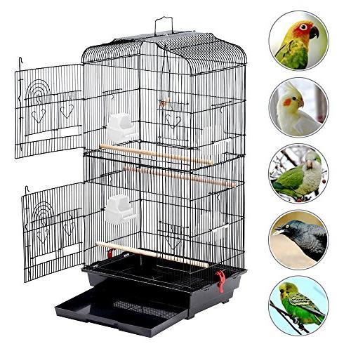 Yaheetech Cockatiels Sun Parakeets Finches Lovebirds Medium Size Cage with Stand