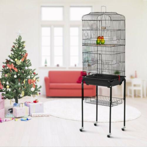 59'' Cage Conures Finch Canary with Stand
