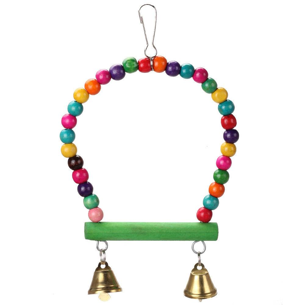 5pcs Bird Hanging Swing Bell Toys fun Set for Cages
