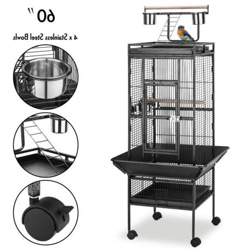 60 large playtop bird cage parrot macaw