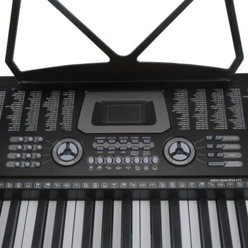 61 Key Organ Electronic Keyboard Stand Black