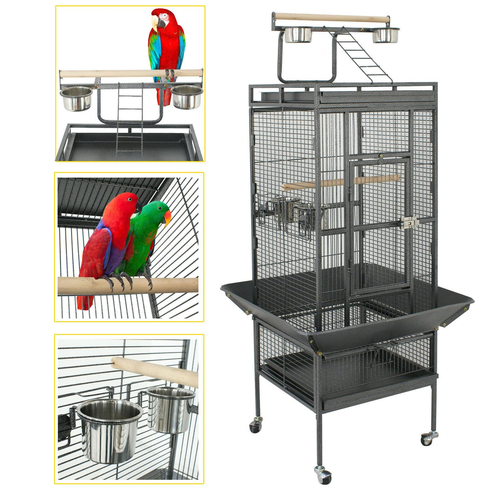 61 large bird cage large play top