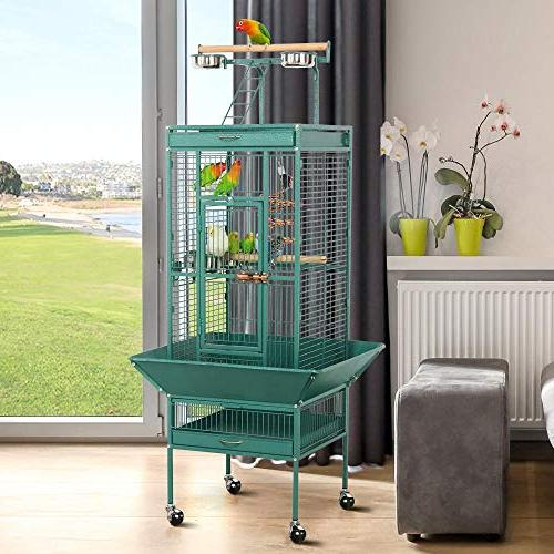 Yaheetech Select Large Include African Grey Mid-Sized Sun Green Cheek Conure Lovebird Play Top