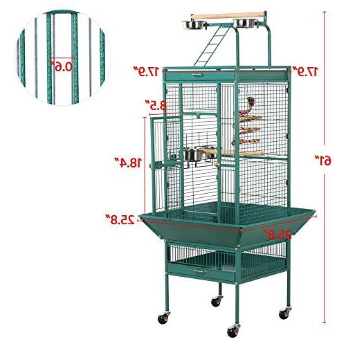 Yaheetech Wrought Iron Select Large Cages Include African Cockatiels Indian Sun Green Cheek Play
