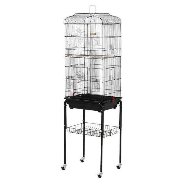 "Yaheetech 610557 Bird Cage Metal Rolling 62"" With Stand and"