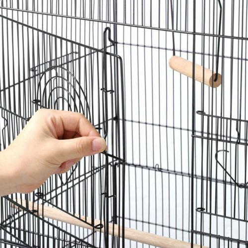 59.3'' Medium Cockatiel Conure Parakeet Bird Cage with Stand