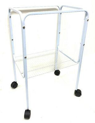 """Rolling Stand For 18"""" x 14"""" or 18"""" x 18"""" Bird Cage  White-85"""