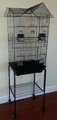 """63"""" Large Roof Top Bird Cage Canary Aviary Cockatiel Finch L"""