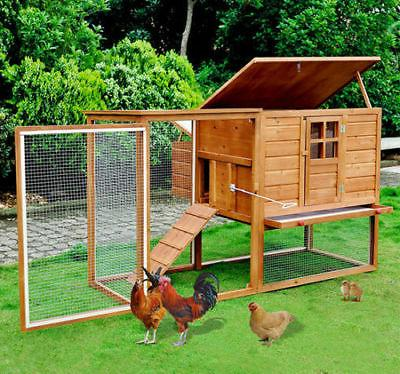 Pawhut 64 Chicken Coop Hen House w/ Nesting Box and Outdoor