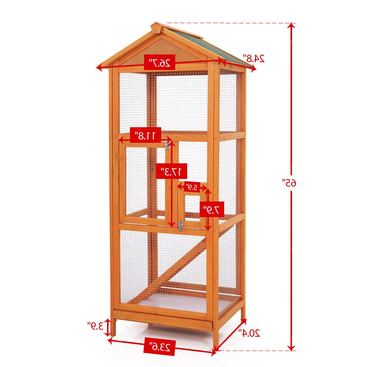 "65"" Large Wooden Outdoor Crate Parrot Canary House"