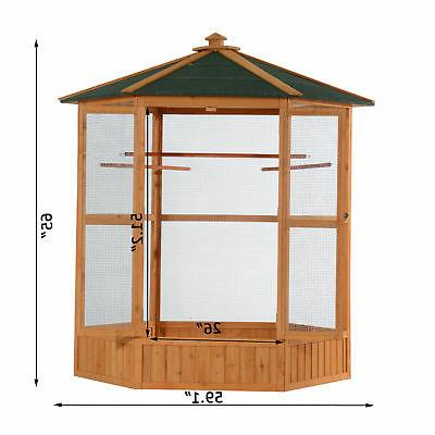 "PawHut 65"" Bird Cage Parrot Finch Cockatoo Pet Supplies House"