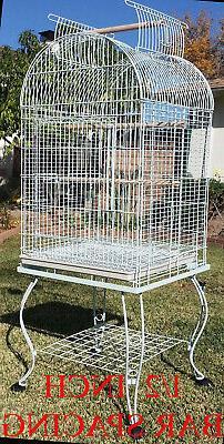 """65"""" Dome Bird Cage Open Top Quaker Parrot Cockatiel Sun Para"""