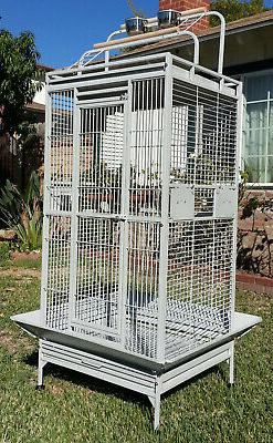"""65"""" Large Wrought Iron Double Ladders Open Play Top Parrot M"""