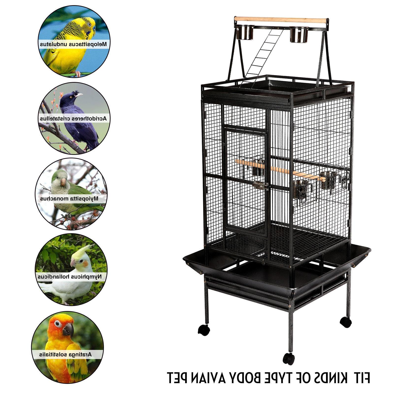 68'' Large Cage Play Parrot Cage Supplies Perch Macaw House