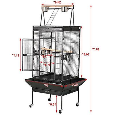 Yaheetech 68'' Wrought Iron Select Rolling Large Cages African Top
