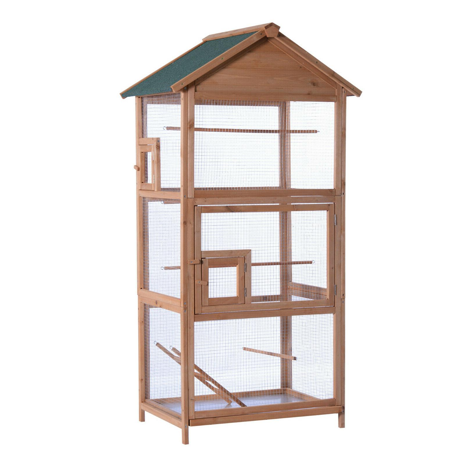 70 outdoor aviary bird cage wood vertical