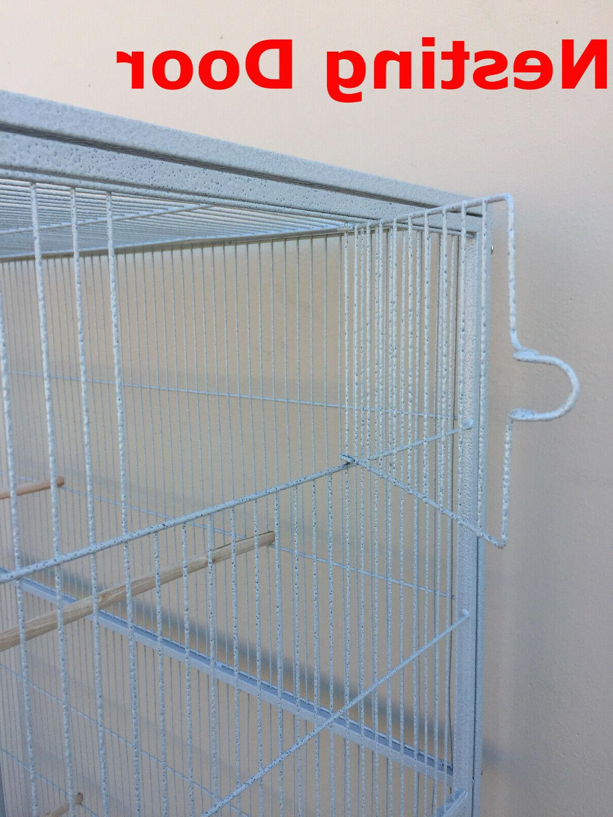 "76"" Large Double Stackable Canary Budgie Aviary Glider Bird 207"