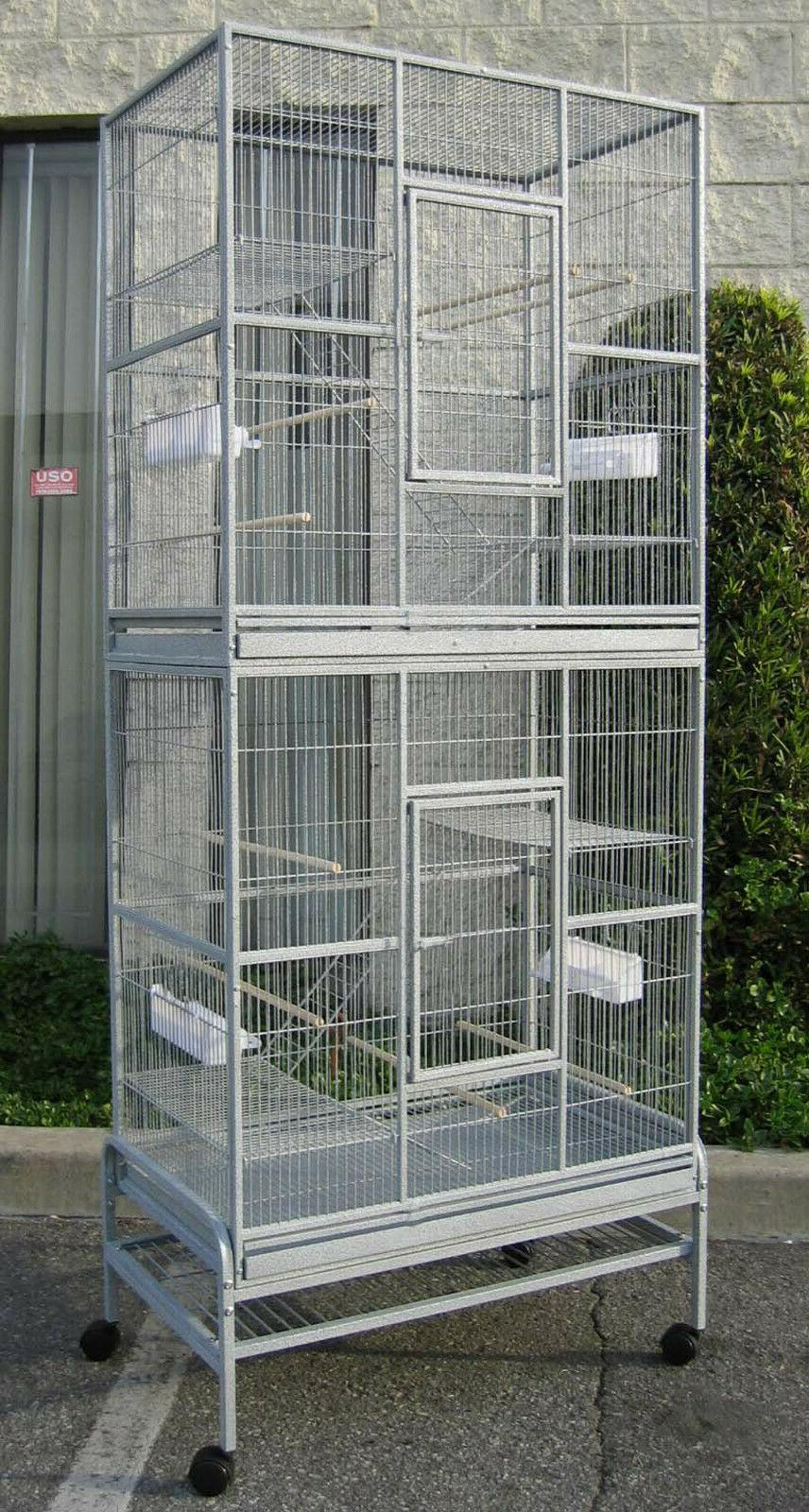 76 large double stackable canary budgie aviary