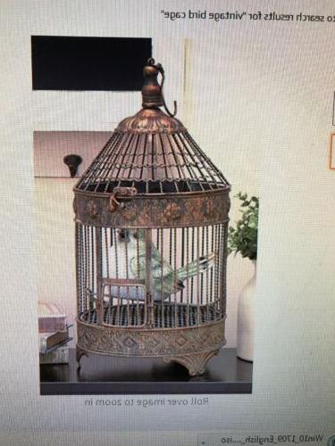 Deco 79 Metal Bird Cage 24-Inch and 16-Inch Set of 2