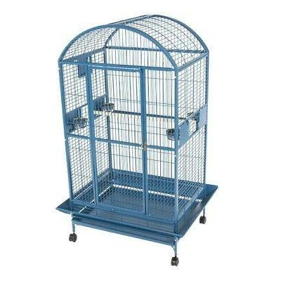 A & E Cage 9004030PUREWHITE 40x30 Dome Top Cage with 1 Bar S