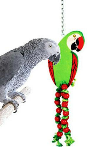 989 Large Parrot Wood Bird toys cages African grey conure cockatoo