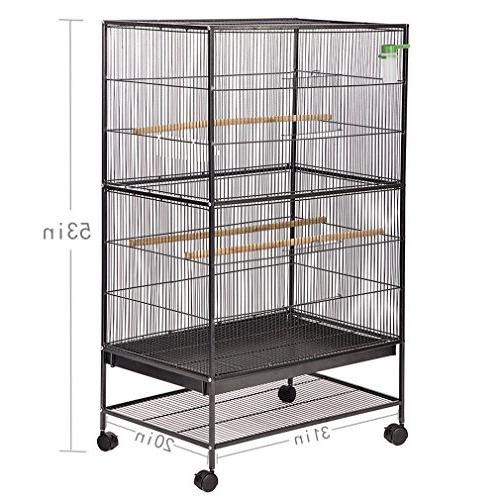 "BestPet Parrot Flight Cage 53"" Birdcage Duty Perch Stand Iron House"
