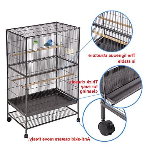 BestPet Bird Cage Flight Cage Large Birdcage Heavy Perch Iron Aviary
