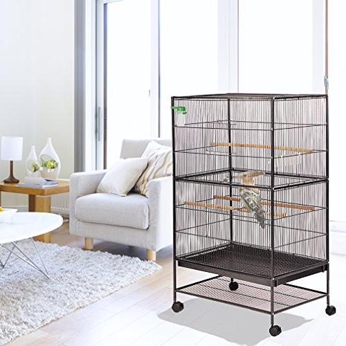 "BestPet Cage Parrot Flight Cage 53"" Birdcage Duty Perch Stand Iron Pet"