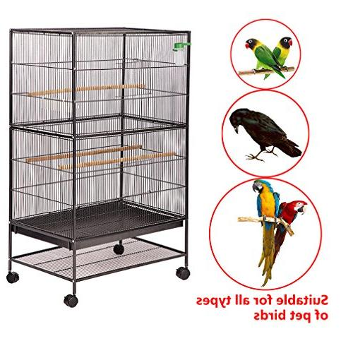 "BestPet Bird Flight Cage 53"" Birdcage Iron Perch Two Iron Aviary"