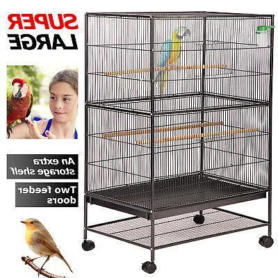 """BestPet Bird Cage Parrot Flight Cage 53"""" Large Birdcage Heav"""
