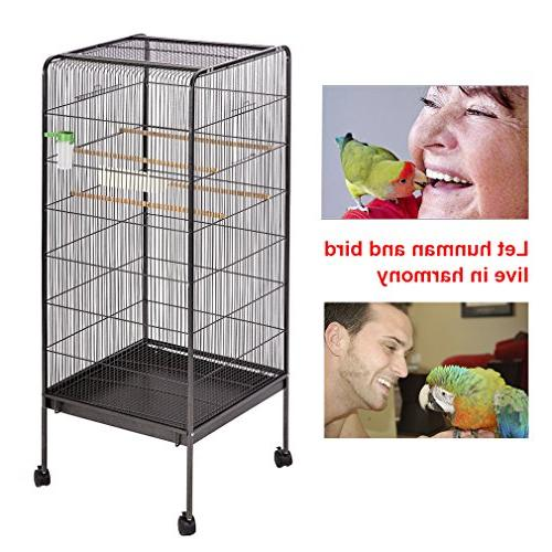 BestPet Cage Parrot Flight Parrot Chinchilla Macaw Cockatiel Cockatoo Heavy Duty Aviary House
